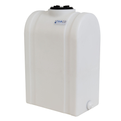"""25 Gallon Natural Tamco® Loaf Tank with 5"""" Lid & 3/4"""" End Fitting - 19-3/8"""" L x 12-3/8"""" W x 31"""" Hgt."""