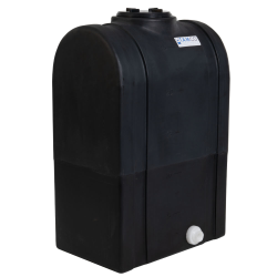 """25 Gallon Black Tamco® Loaf Tank with 5"""" Lid & 3/4"""" Side Fitting - 19-3/8"""" L x 12-3/8"""" W x 31"""" Hgt."""