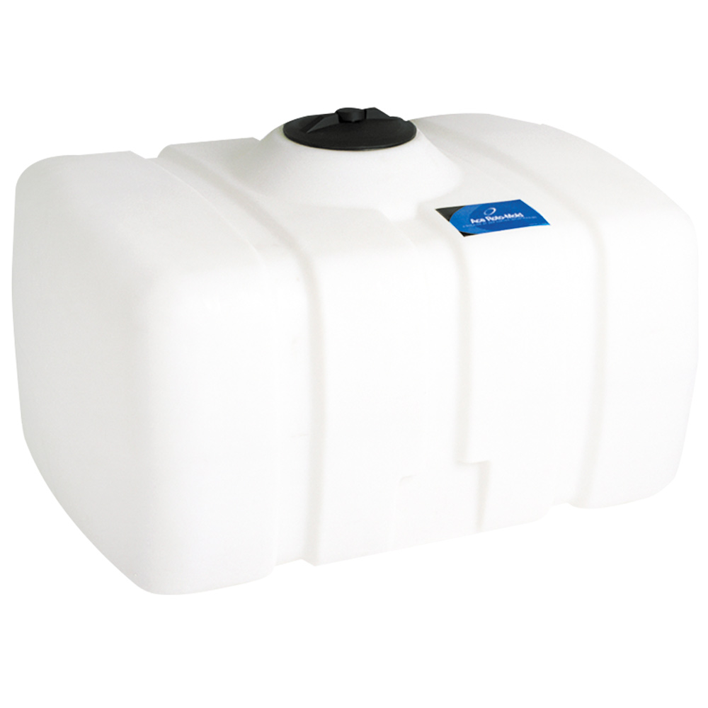 "150 Gallon White Flat Bottom Tank, 48"" x 36"" x 29"", 8"" Manway, 1"" Fitting"