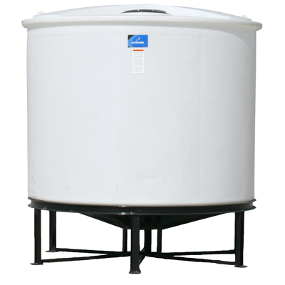 "86"" Diameter Open-Top Cone Bottom Batch Tank"