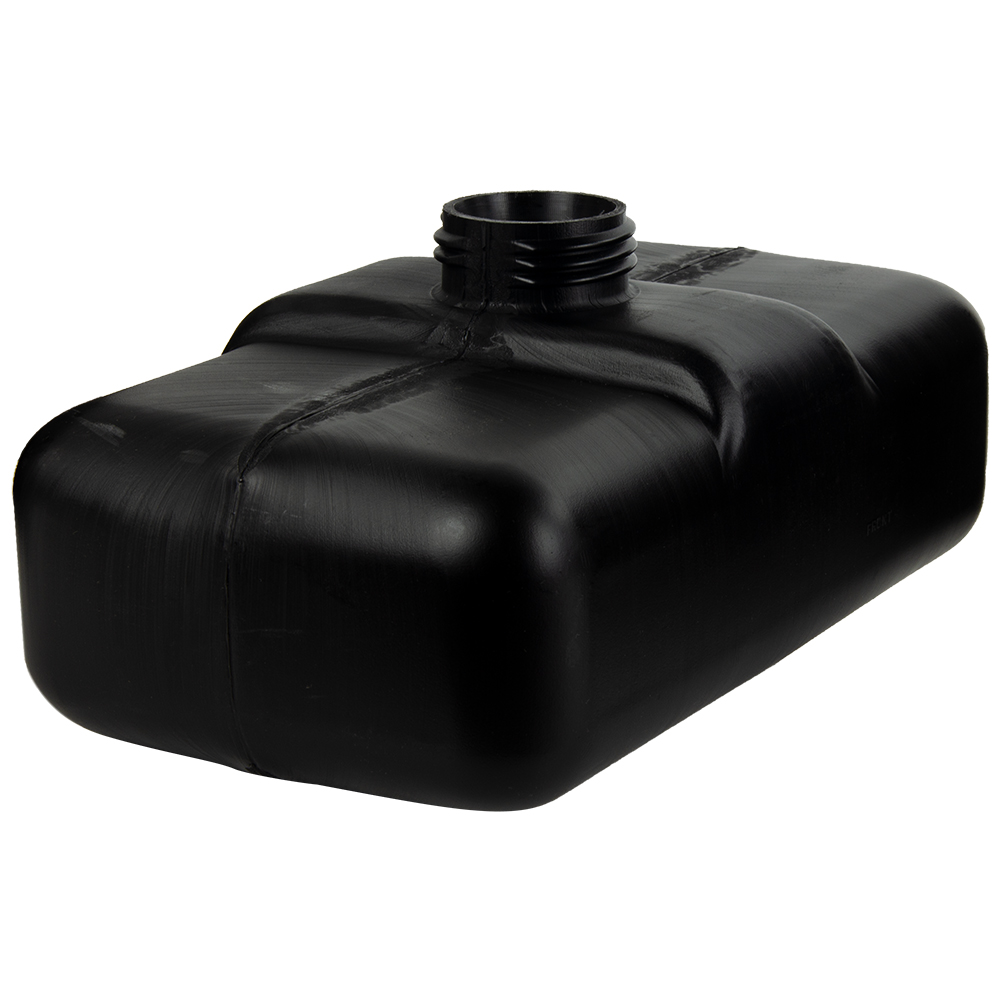 "1 Gallon Black Multi Purpose Tank - 11.2"" L x 6.5"" W x 4.25"" Hgt. (2.25"" Neck)"