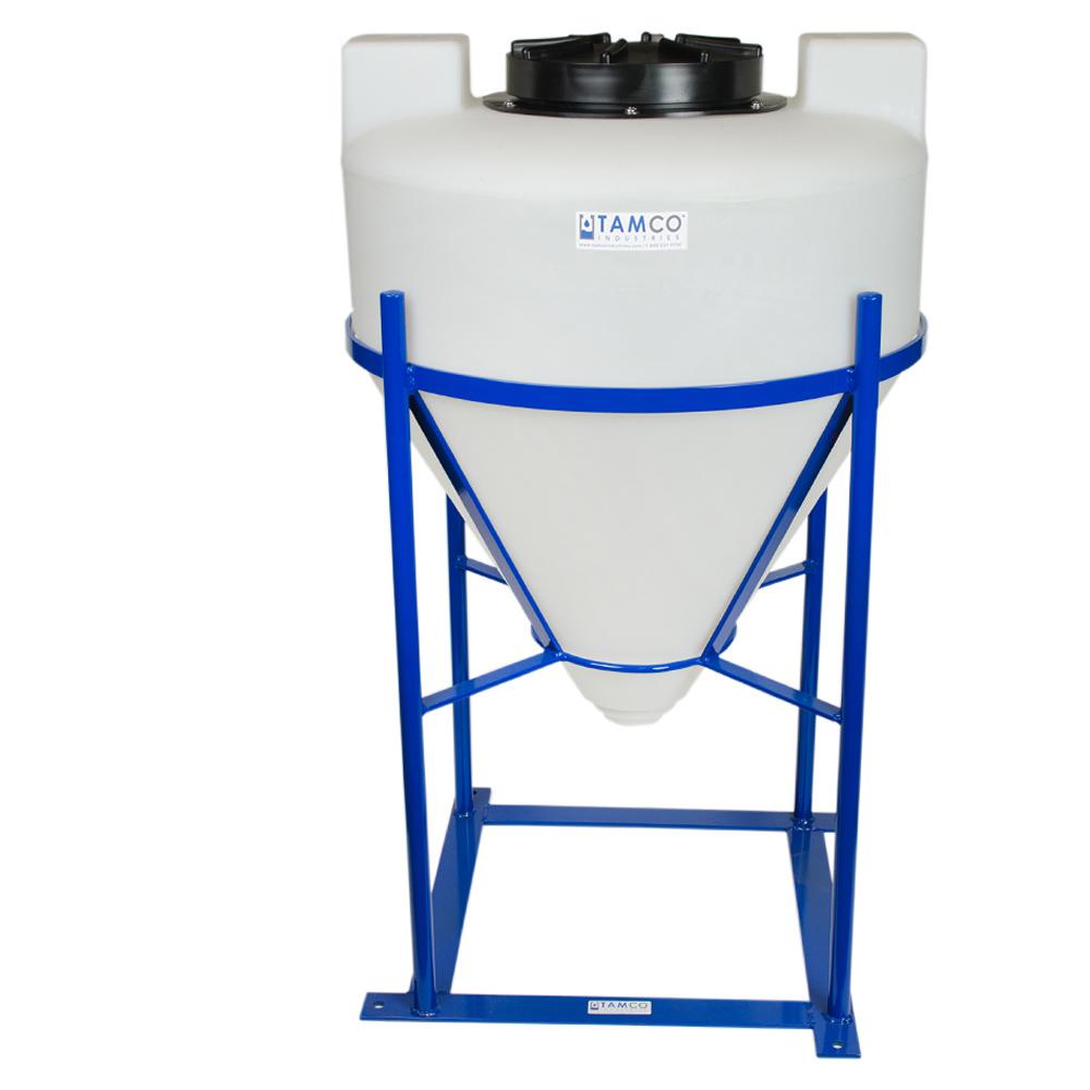"30 Gallon Tamco® Cone Bottom Tank with Mixer Mounts & 2"" FPT Bulkhead Fitting - 26"" Dia. x 31"" Hgt."