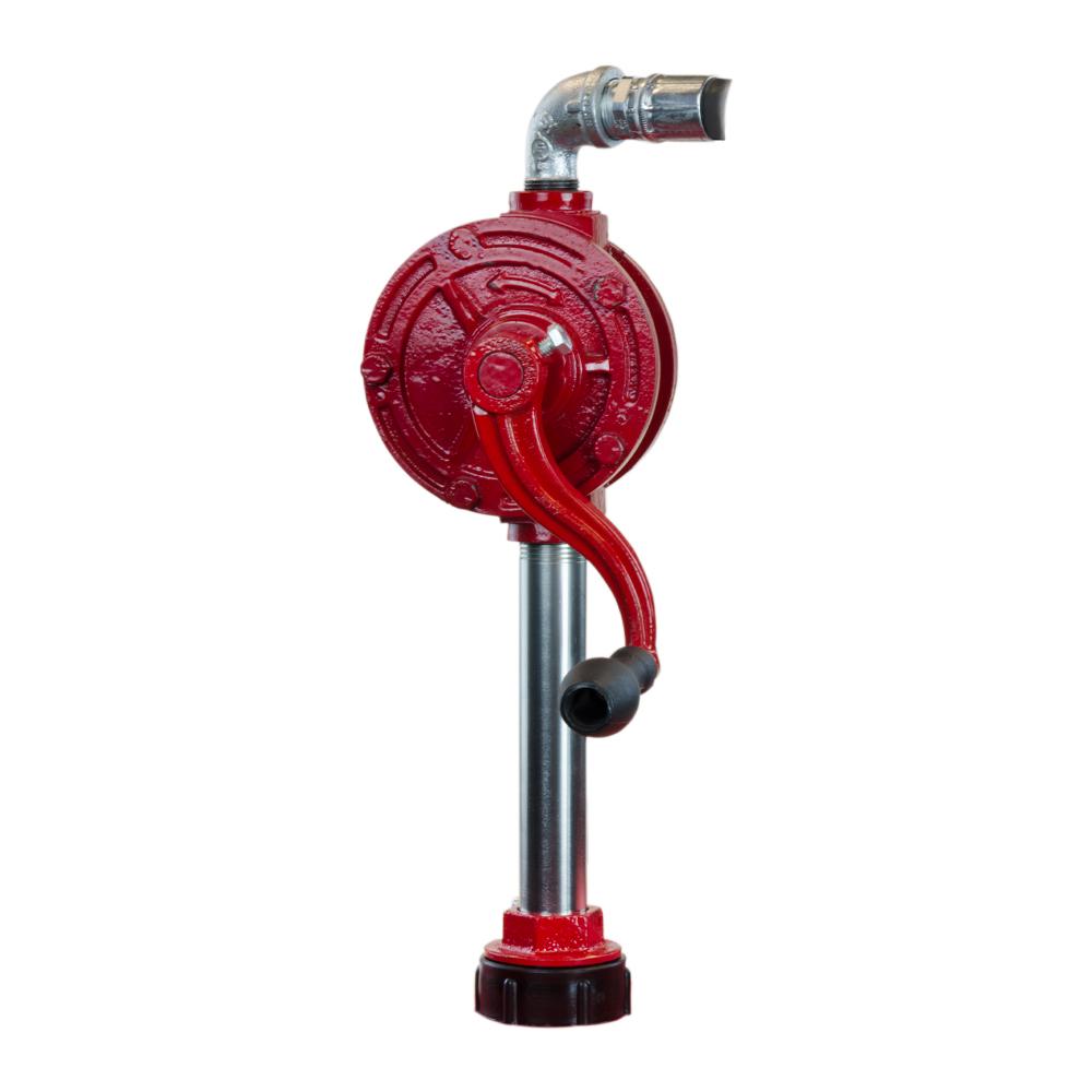 Red & Black Rotary Hand Pump