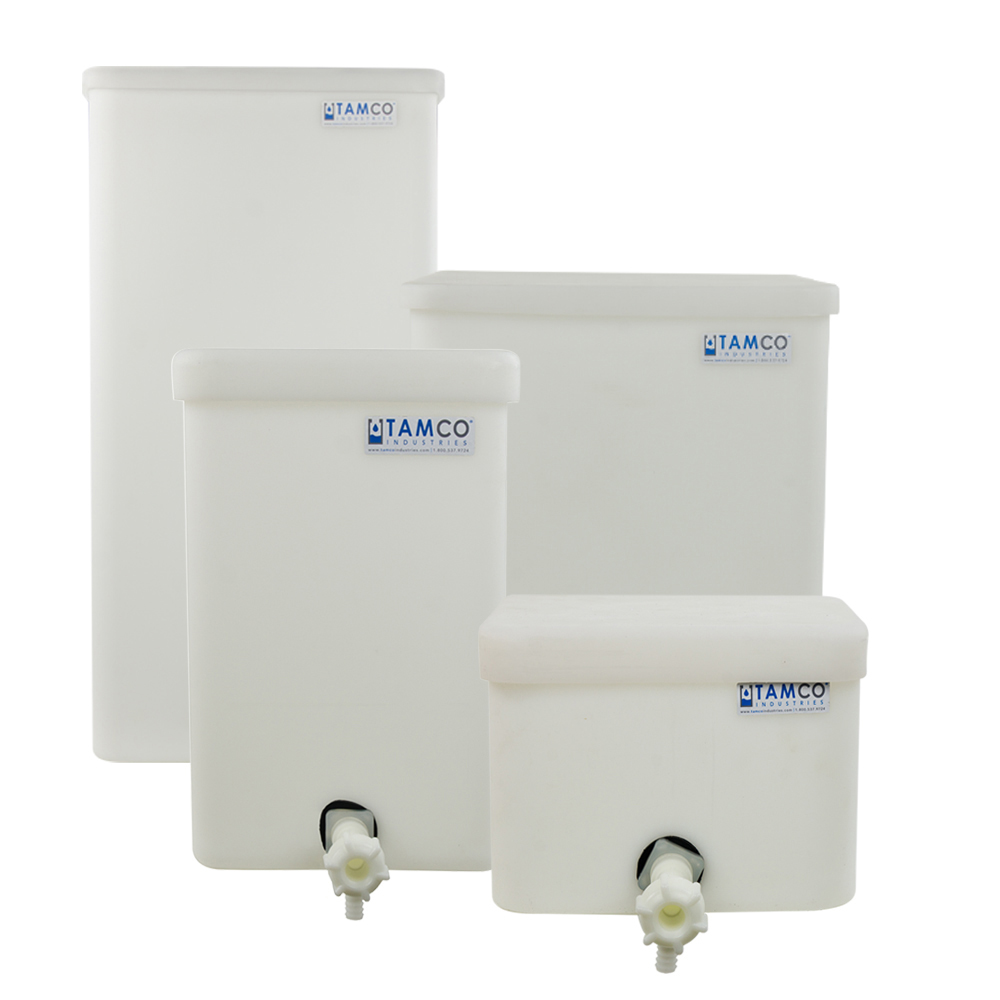 Tamco® Polyethylene Square Tanks with Covers