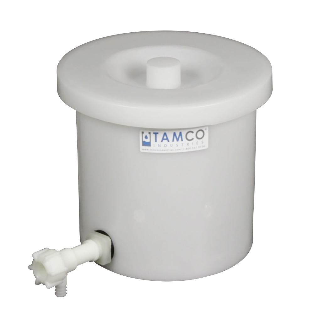 "5 Gallon Tamco® Crock with a 3/4"" Polypropylene Flow Spigot"
