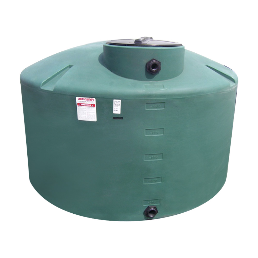 "500 Gallon Green Water Tank - 64"" Dia. x 46"" H"