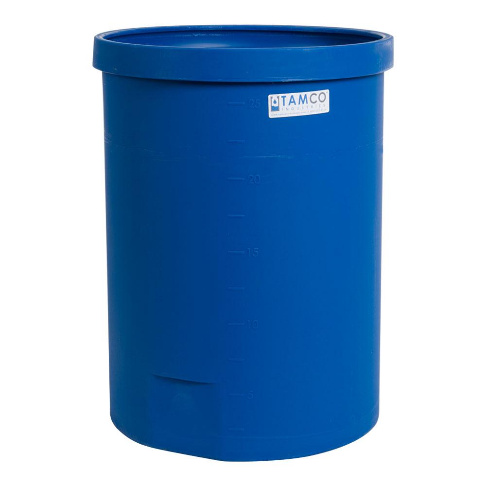 """25 Gallon Blue Heavy Wall Open Top Tamco® Tank - 18-3/8"""" Dia. X 26"""" High"""