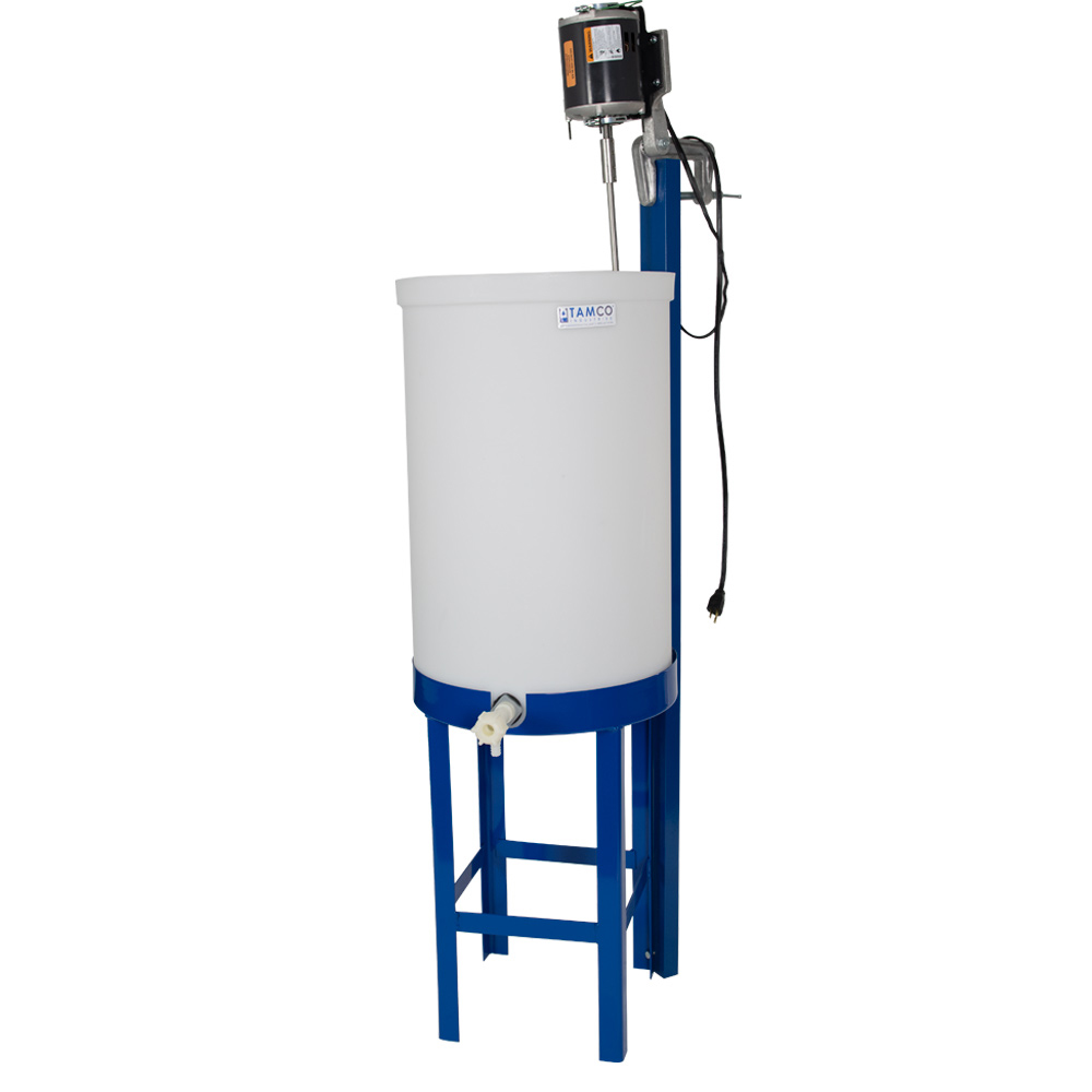 "30 Gallon Tank with 3/4"" PVC Ball Valve, Stand & Mixer"