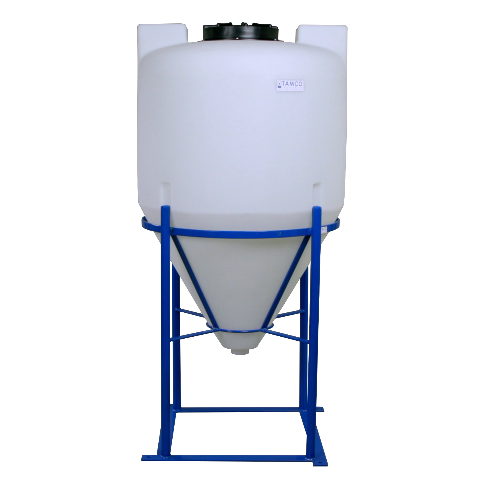 """75 Gallon Tamco® Cone Bottom Tank with Mixer Mounts & 2"""" FPT Boss Fitting (Full Drain) - 30"""" Dia. x 48"""" Hgt."""