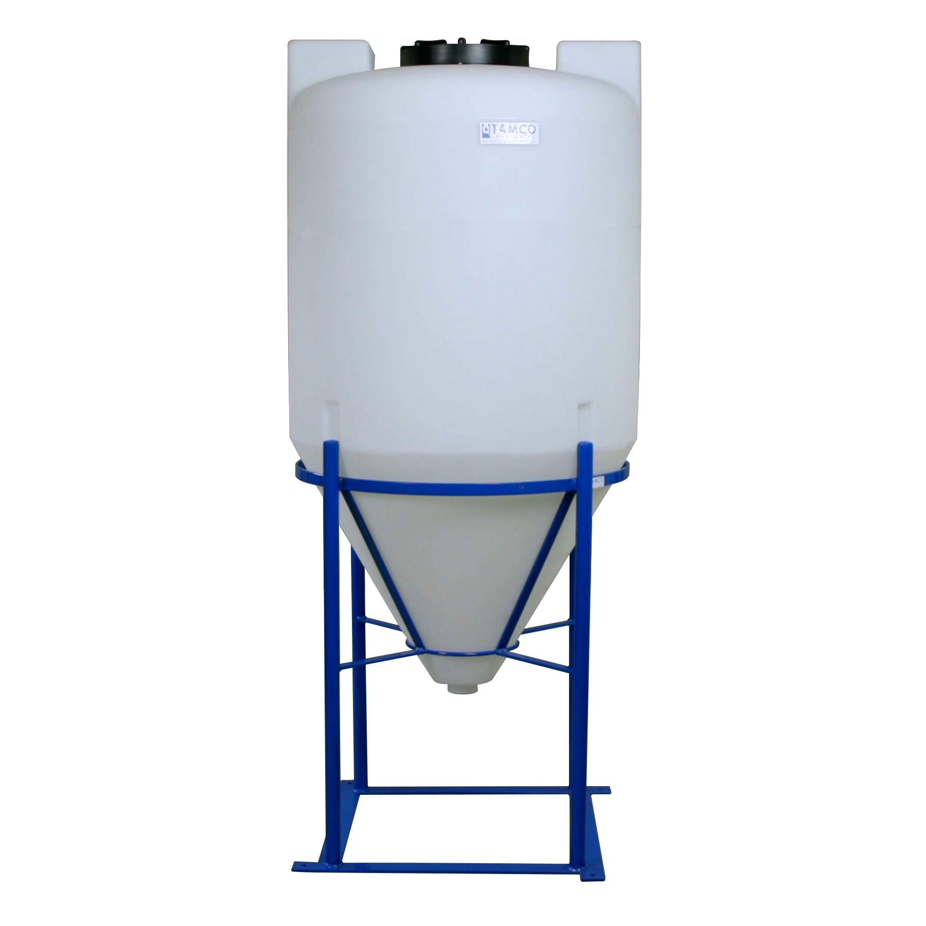 "100 Gallon Tamco® Cone Bottom Tank with Mixer Mounts & 2"" FPT Boss Fitting (Full Drain) - 30"" Dia. x 56"" Hgt."