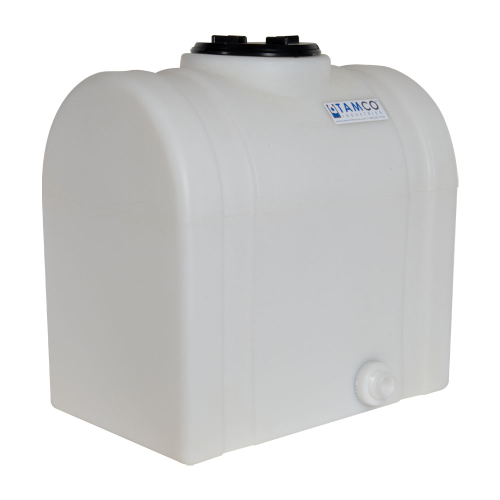 """15 Gallon Natural Tamco® Loaf Tank with 5"""" Lid & 3/4"""" Side Fitting - 19-3/8"""" L x 12-3/8"""" W x 21"""" Hgt."""