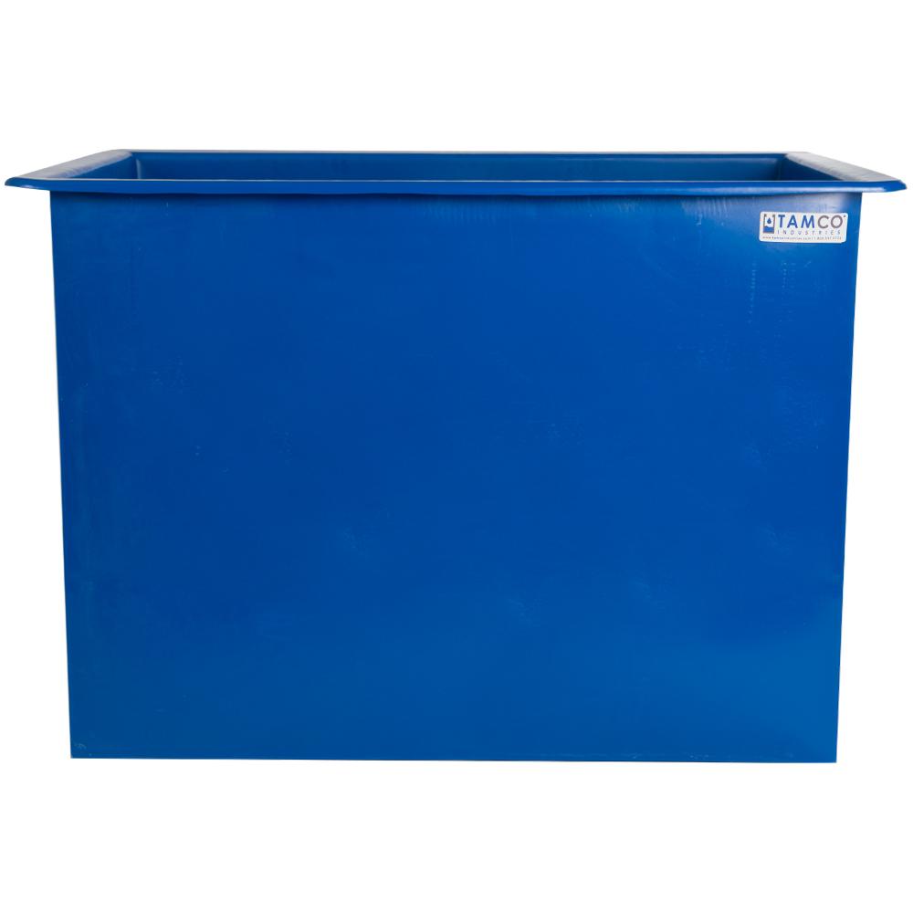 """70 Gallon Blue LLDPE Tamco® Aquaculture/Aquaponics Tank - 30"""" L x 24"""" W x 24"""" Hgt."""
