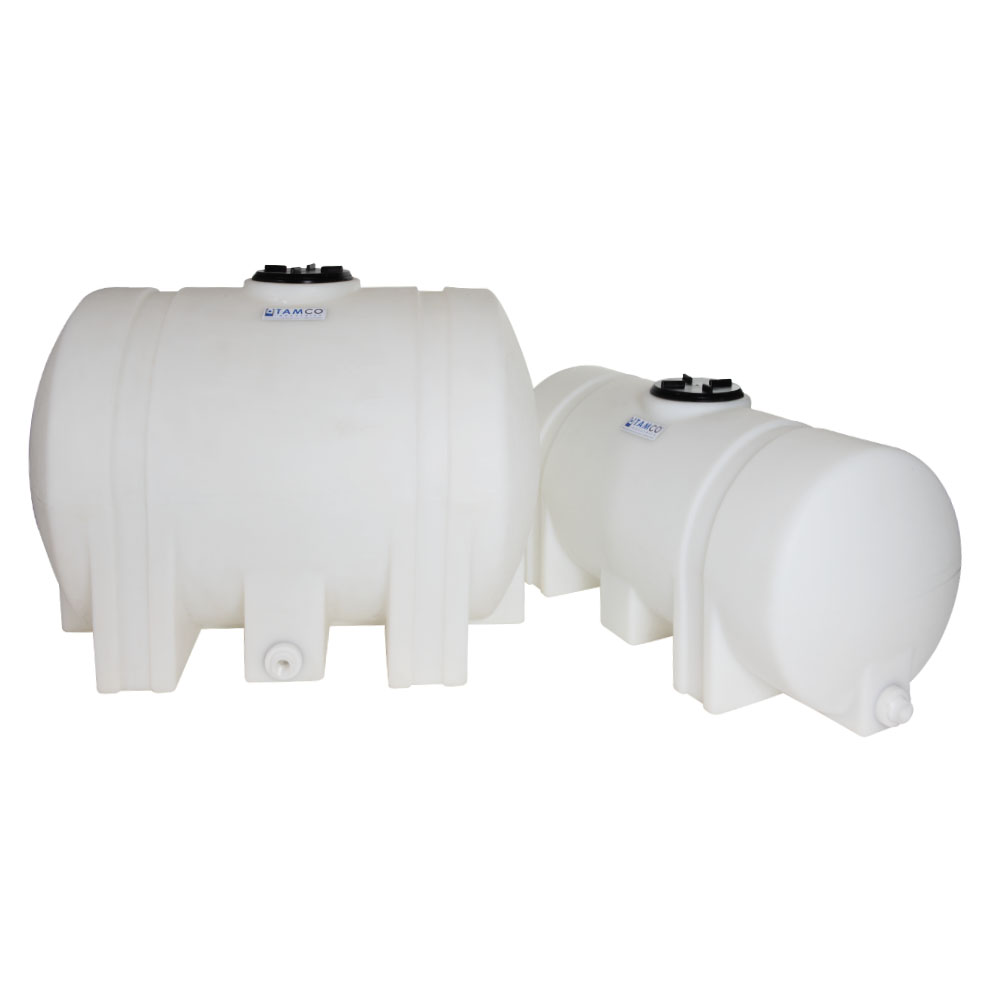 """55 Gallon Natural Tamco® Leg Tank with 5"""" Lid & 3/4"""" End Fitting - 35"""" L x 23-1/2"""" W x 25"""" Hgt."""
