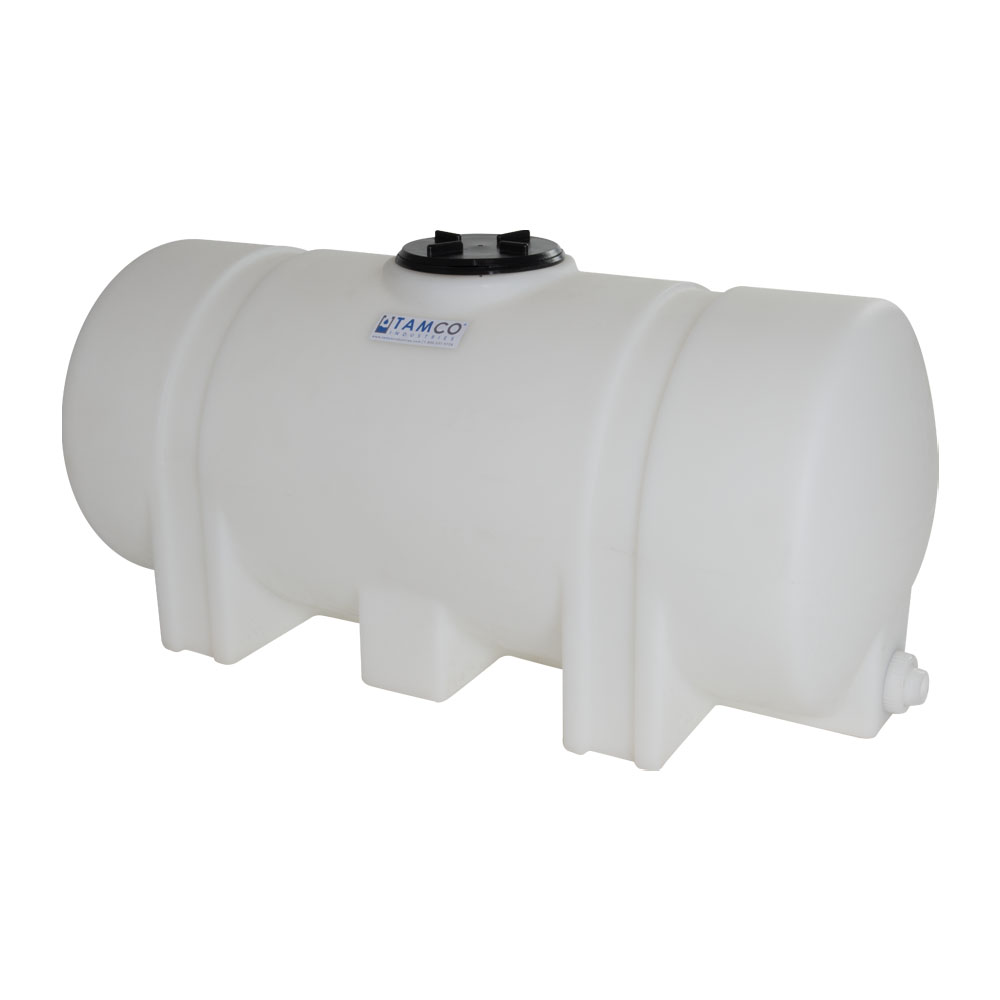 """25 Gallon Natural Tamco® Leg Tank with 5"""" Lid & 3/4"""" End Fitting - 37"""" L x 16"""" W x 17"""" Hgt."""