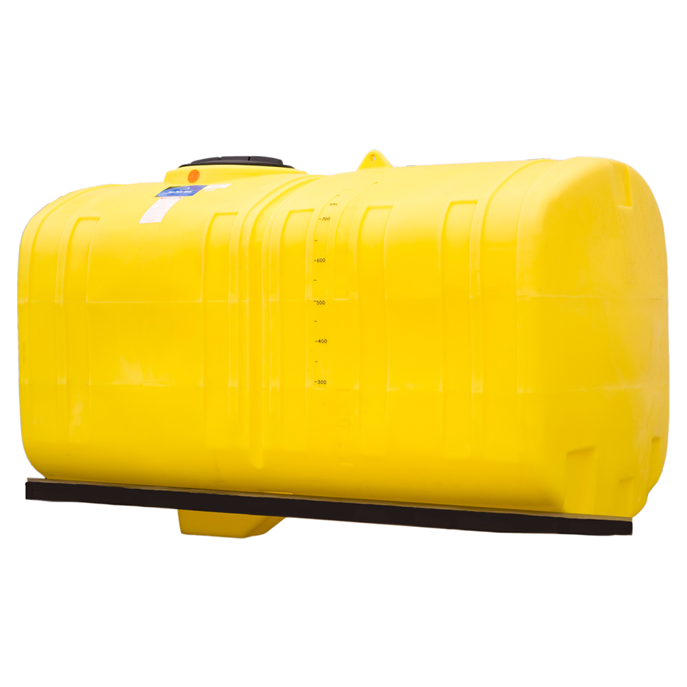 "1000 Gallon Crop Care Tank with Narrow Bottom Sloped Sump - 58"" L x 115"" W x 51"" H"