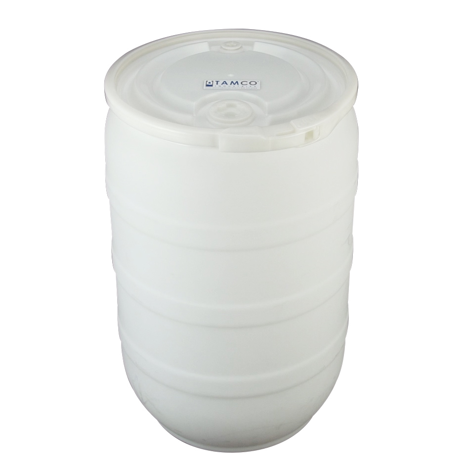 30 Gallon Natural Open Head Drum with Threaded Bungs