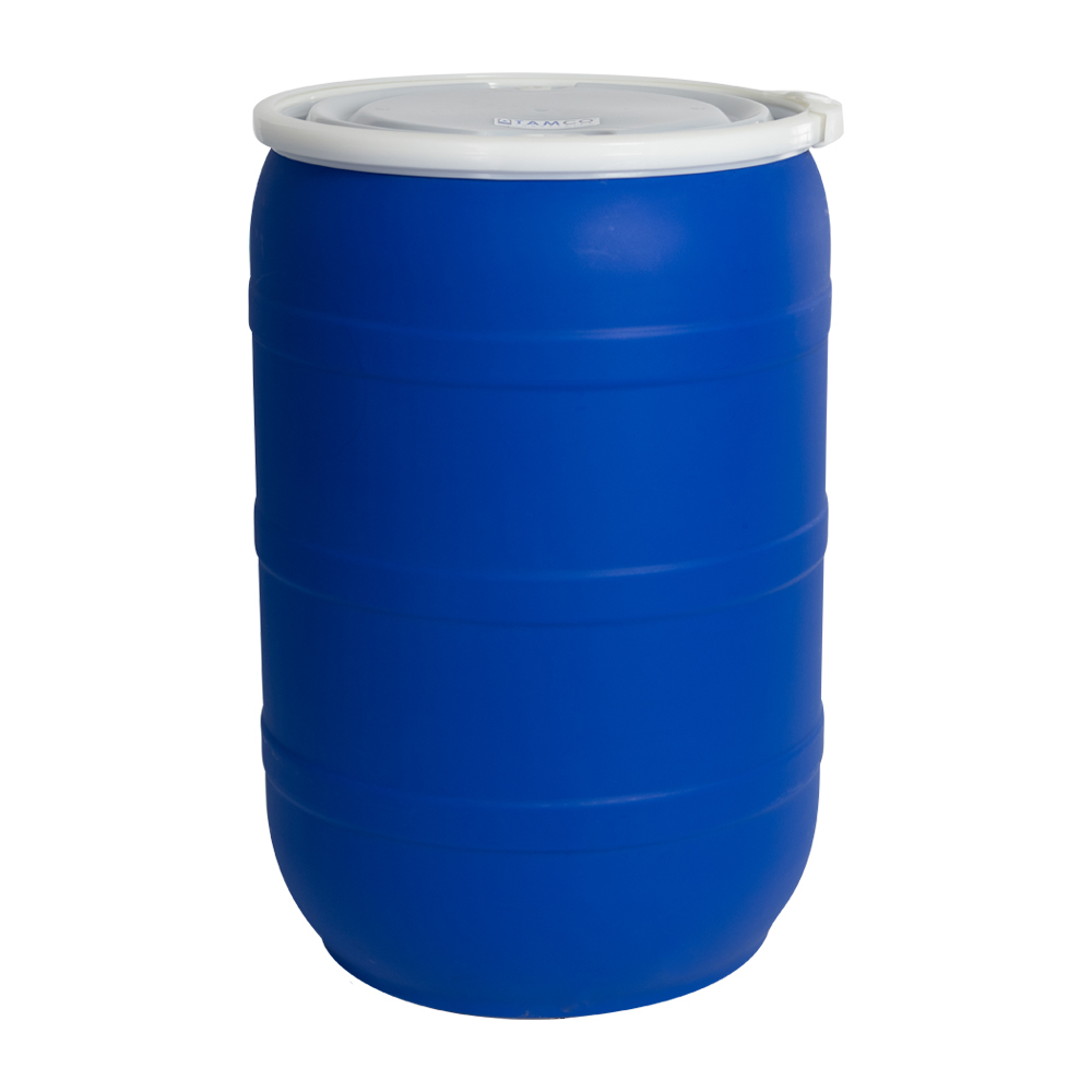 55 Gallon Blue Tamco® Open Head Drum with Threaded Bungs