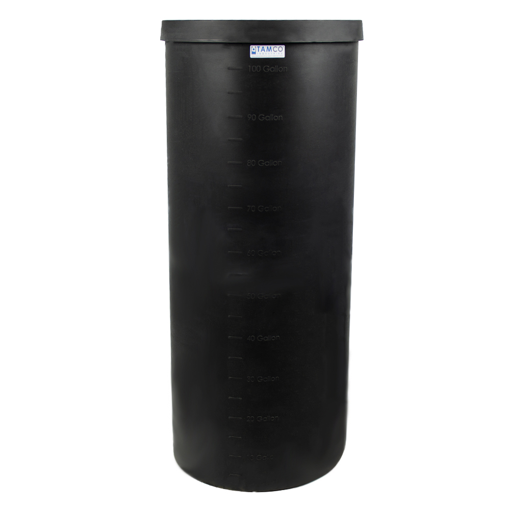 """105 Gallon Black Heavy Weight Tank - 24"""" Dia. x 58"""" High (Cover Sold Separately)"""