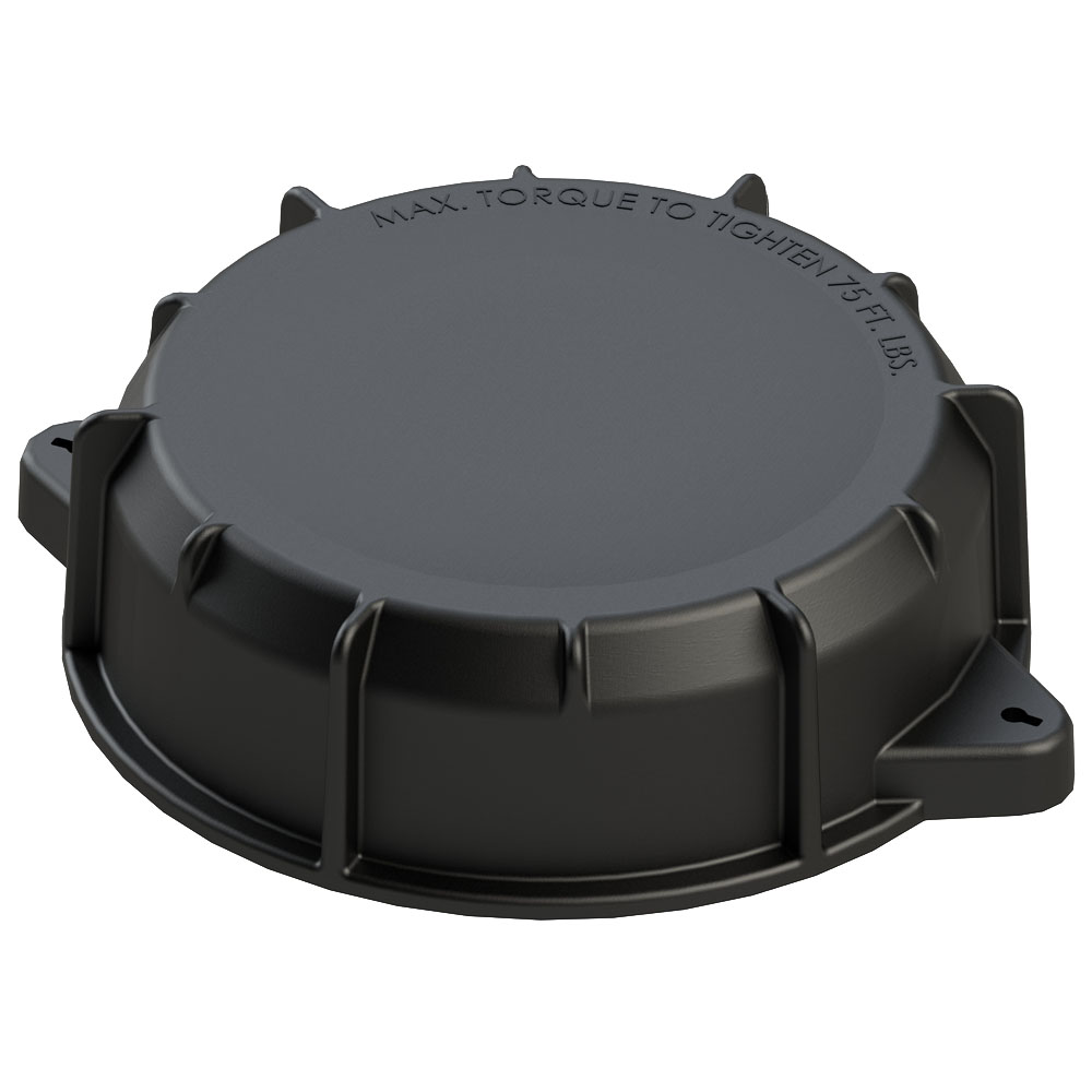 "9"" Cap without Port and Gasket Assembly (Santoprene)"