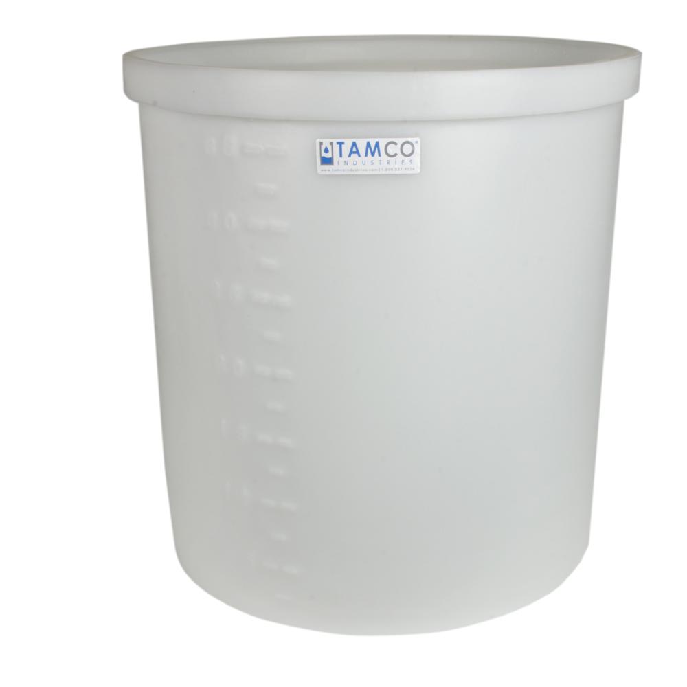 "17 Gallon Natural Short Polyethylene Tank - 22"" Dia. x 12"" High"