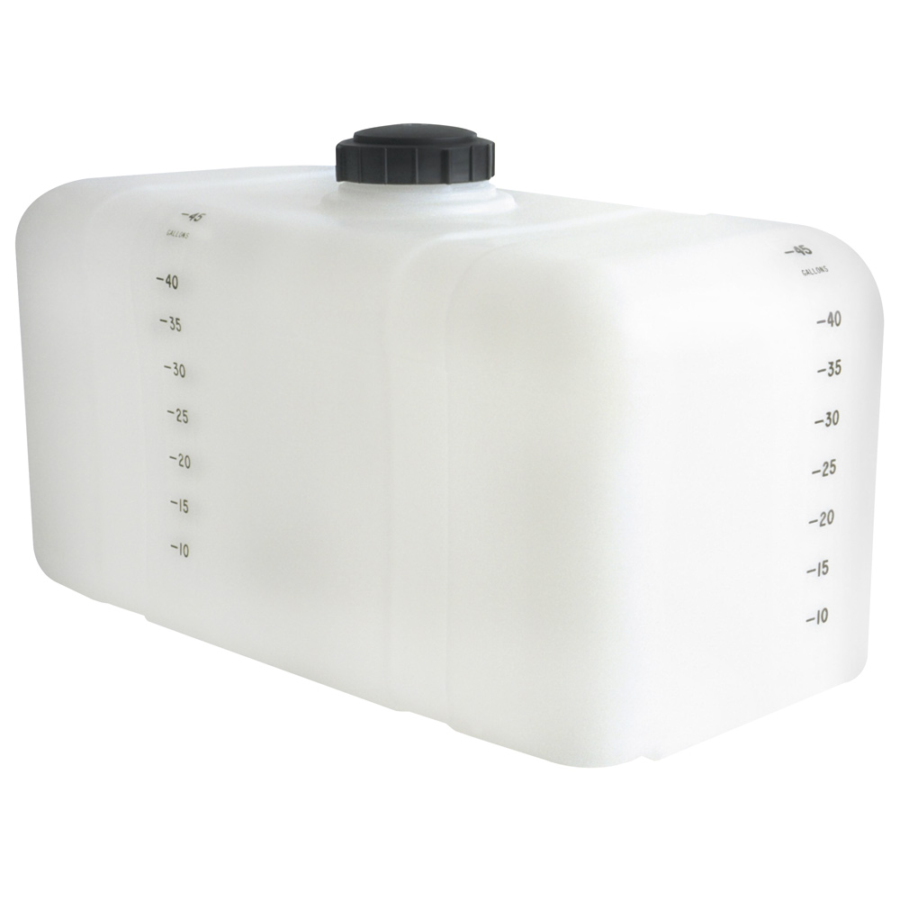 "45 Gallon Heavy-duty White Specialty Tank, 37"" x 18"" x 22"", 5"" Manway, 3/4"" Fitting"
