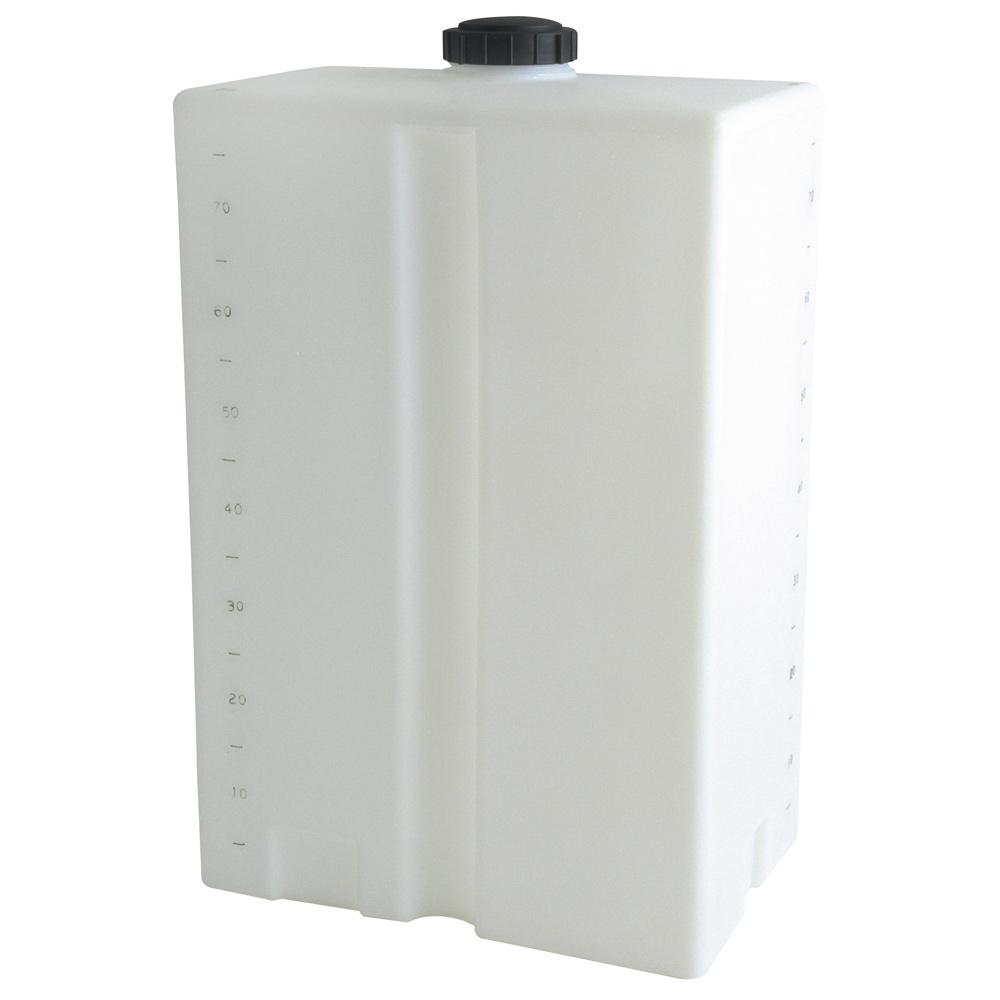 """80 Gallon Heavy-duty Natural Specialty Tank, 27"""" x 18"""" x 44"""", 5"""" Manway, 1"""" Fitting"""