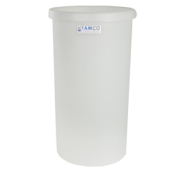 "55 Gallon Natural Polyethylene Tank - 22"" Dia. x 35"" High"