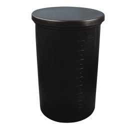 "5 Gallon Black Heavy Weight Tank - 11"" Dia. x 14"" High (Cover Sold Separately)"