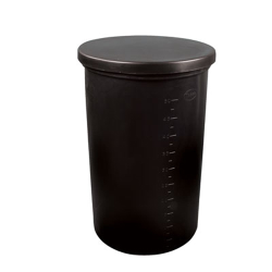 "500 Gallon Black Polyethylene Brine Tank - 57"" Dia. x 62-3/8"" High"