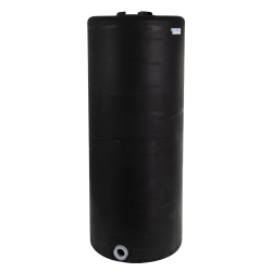 """105 Gallon Tamco® Vertical Black PE Tank with 8"""" Lid & 2"""" Fitting - 24"""" Dia. x 60"""" High"""