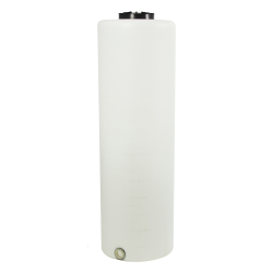 "135 Gallon Tamco® Vertical Natural PE Tank with 12-1/2"" Lid & 2"" Fitting - 24"" Dia. x 77"" High"