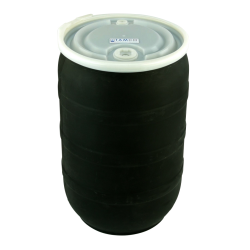 30 Gallon Black Tamco® Open Head Drum with Threaded Bungs