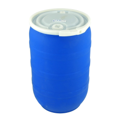 30 Gallon Blue Open Head Drum with Threaded Bungs