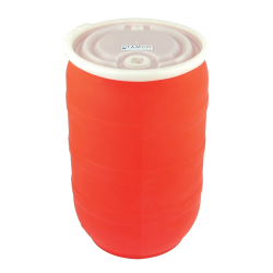 30 Gallon Red Tamco® Open Head Drum with Threaded Bungs