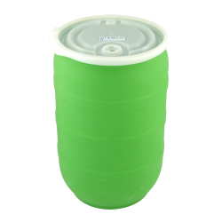 30 Gallon Green Open Head Drum with Threaded Bungs