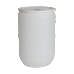 55 Gallon Natural Open Head Drum with Threaded Bungs