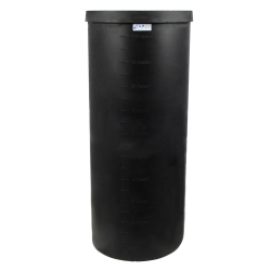 "105 Gallon Black Heavy Weight Tank - 24"" Dia. x 58"" High"