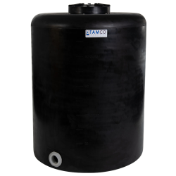 """100 Gallon Tamco® Vertical Black PE Tank with 12-1/2"""" Lid & 2"""" Fitting - 30"""" Dia. x 39"""" High"""
