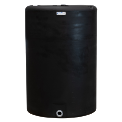 "300 Gallon Tamco® Vertical Black PE Tank with 8"" Lid & 2"" Fitting - 40"" Dia. X 61"" High"