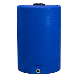 "300 Gallon Tamco® Vertical Blue PE Tank with 12-1/2"" Lid & 2"" Fitting - 40"" Dia. X 63"" High"