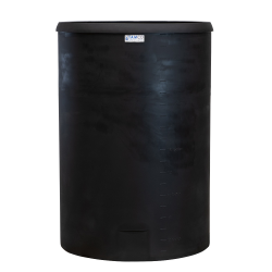 "300 Gallon Black Heavy Weight Tank - 40"" Dia. X 60"" High"
