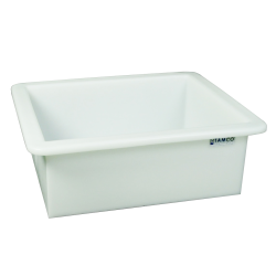"30 Gallon Heavy Duty Natural PE Tamco® Tank - 30"" L x 24"" W x 12"" Hgt. (Can Ship UPS)"