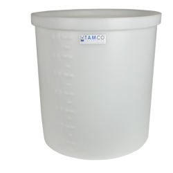 "17 Gallon Natural Short Polyethylene Tank - 22"" Dia. x 12"" High"