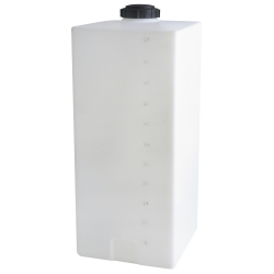 "55 Gallon Heavy-duty White Specialty Tank, 18"" x 18"" x 44"", 5"" Manway, 1"" Fitting"