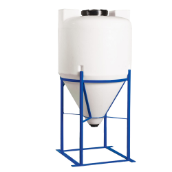 "75 Gallon Heavy Duty Cone Bottom Tank with 2"" FPT Bulkhead Fitting - 30"" Diameter x 48"" High"