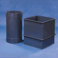 "43 Gallon PVC Rectangular Tank(Two Support Flanges) 18"" L x 18"" W x 30"" H"