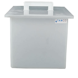 "2 Gallon Polypropylene High Temperature Tank - 8"" L x 8"" W  x 8"" H"