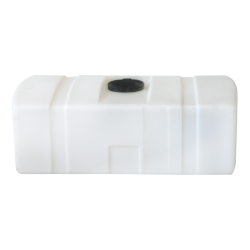 110 Gallon White Low Profile Rectangular Tank