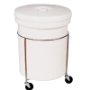 "26 Gallon Polyethylene Round Mobile Container 20-3/4""Dia. x 29-3/4""H"