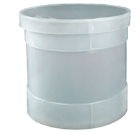 "30 Gallon Polypropylene High Temperature Cylindrical Tank - 18"" Dia. x 28"" High"